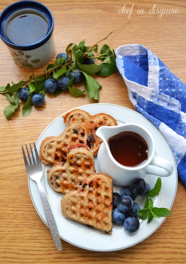 Sourdough whole wheat waffles