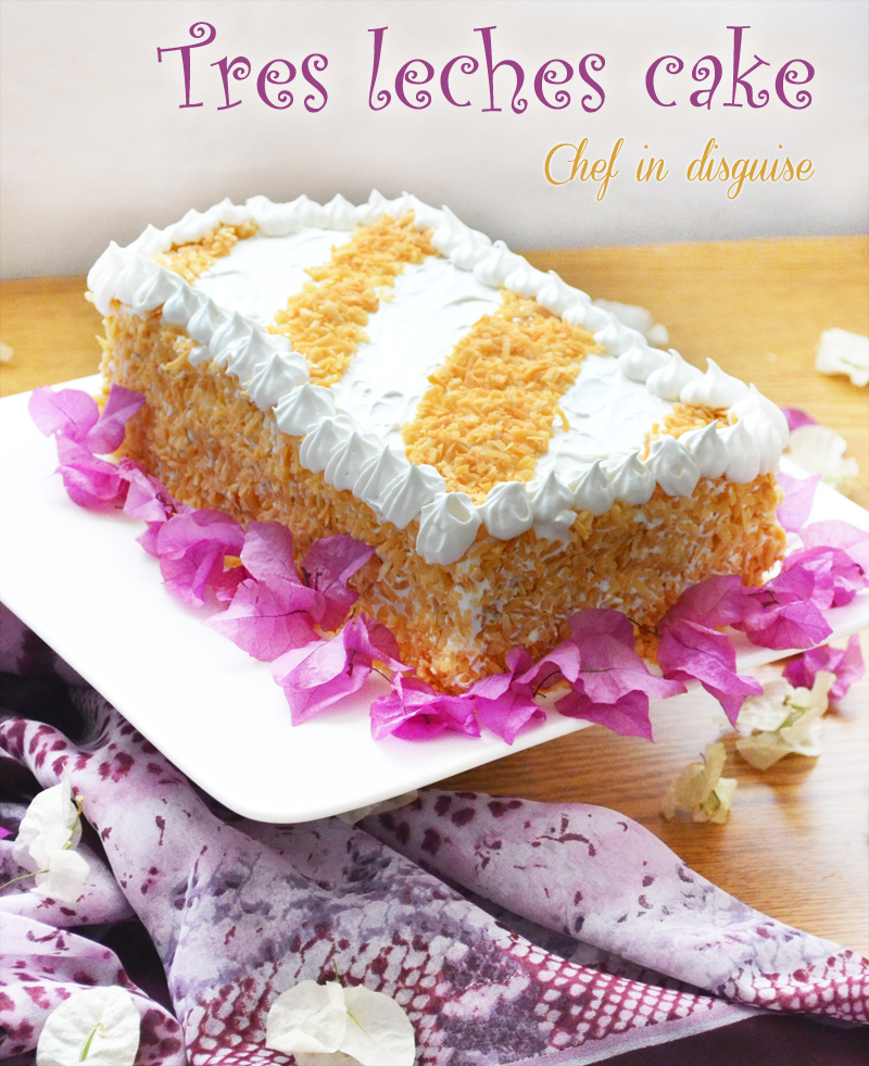 tres leches cake or torta de tres leches from spanish three milks cake ...
