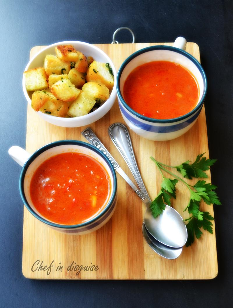 Spanish tomato soup chef in disguise - Sopa castellana youtube ...