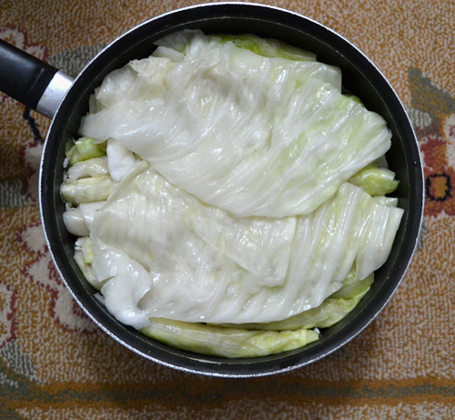 cooking cabbage
