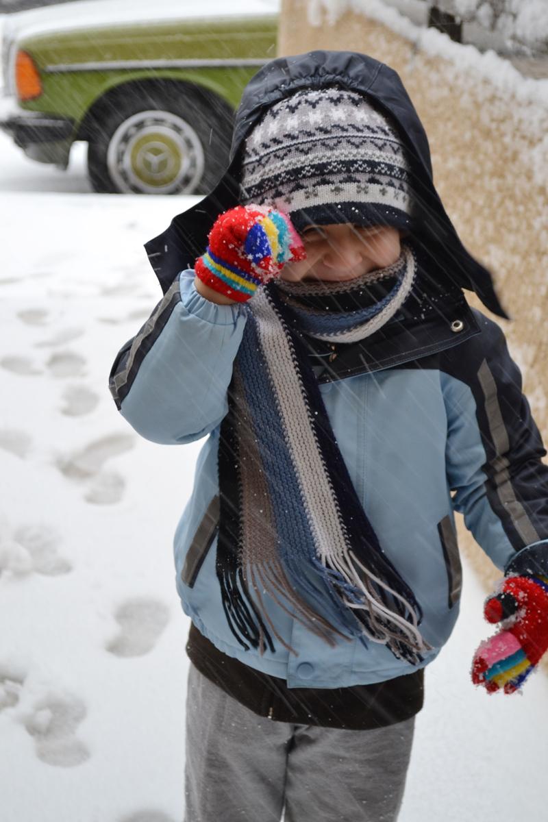 Ibrahim in the snow