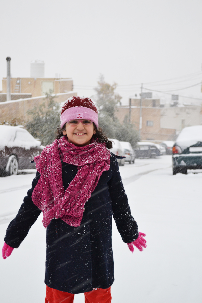 jana in the snow