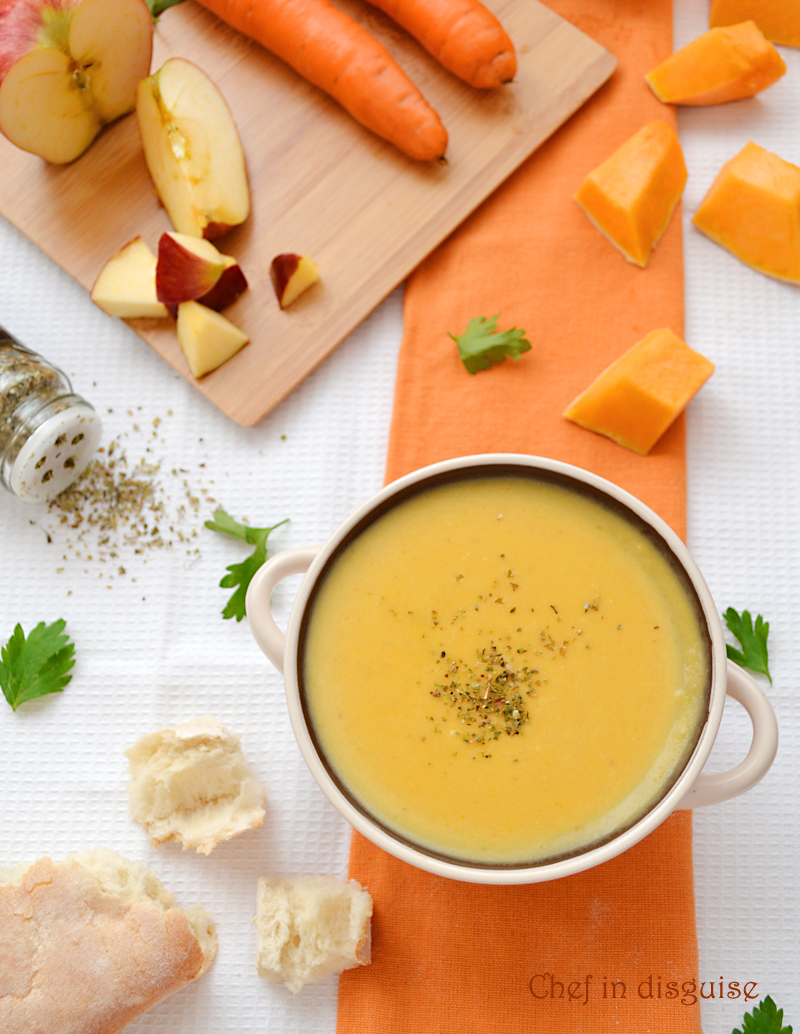 warm and comforting pumpkin soup