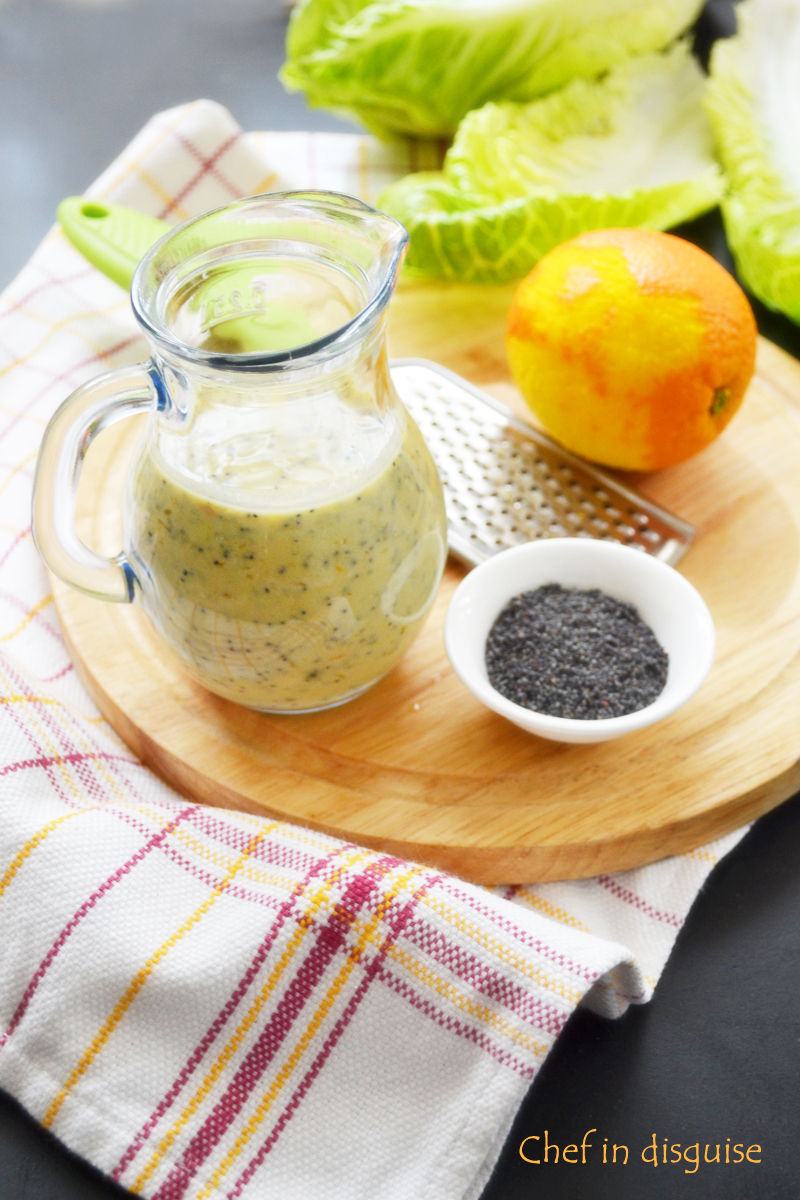 Citrus poppy seed salad dressing