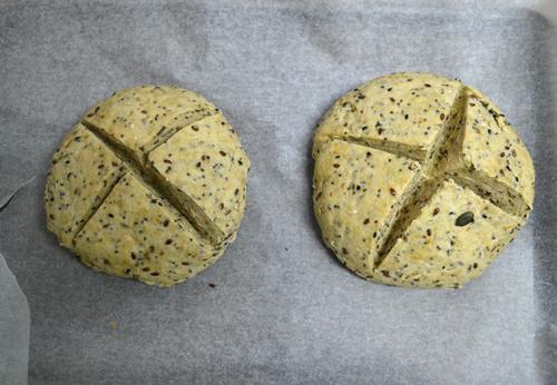 irish soda bread before