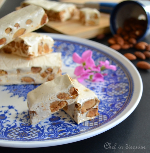 Nougat with almonds