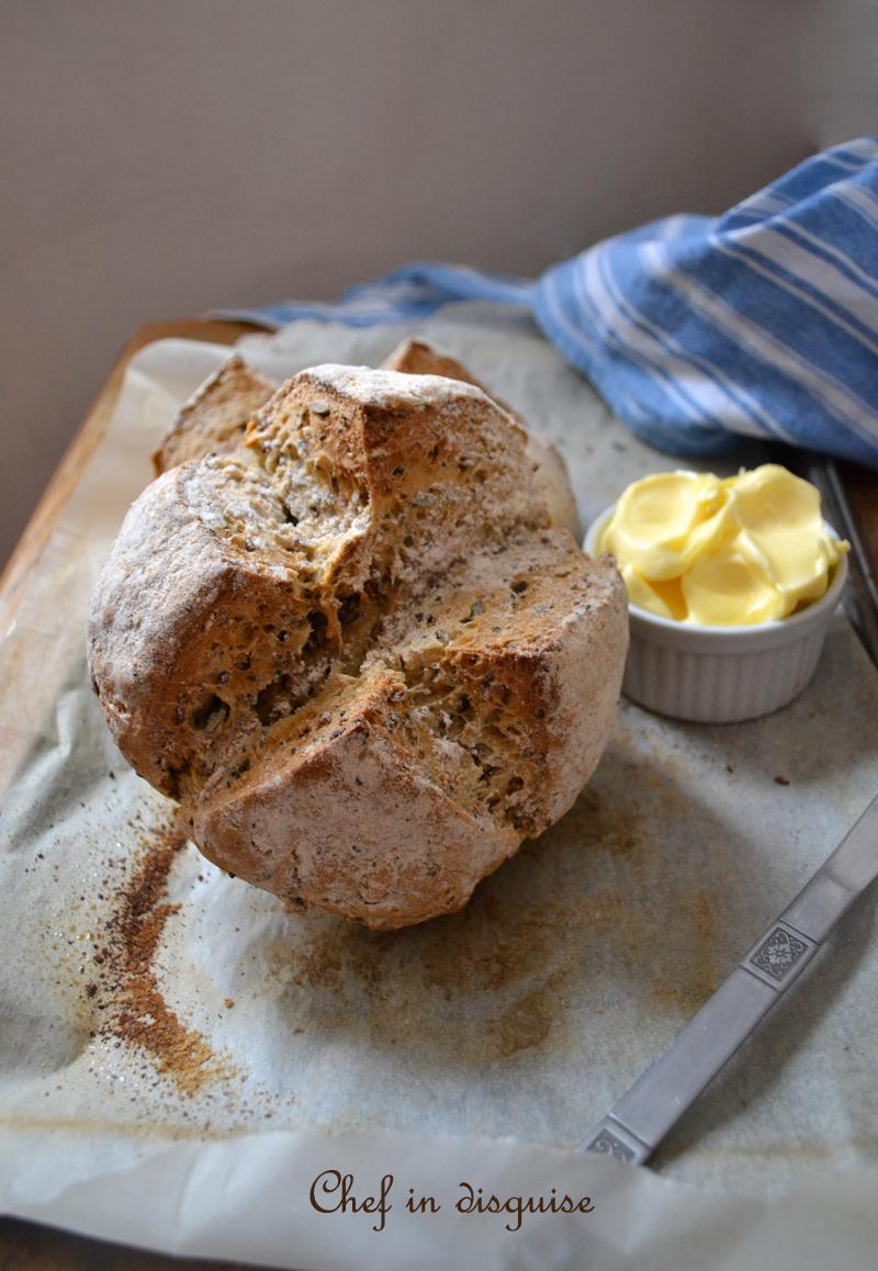 Sourdough soda bread