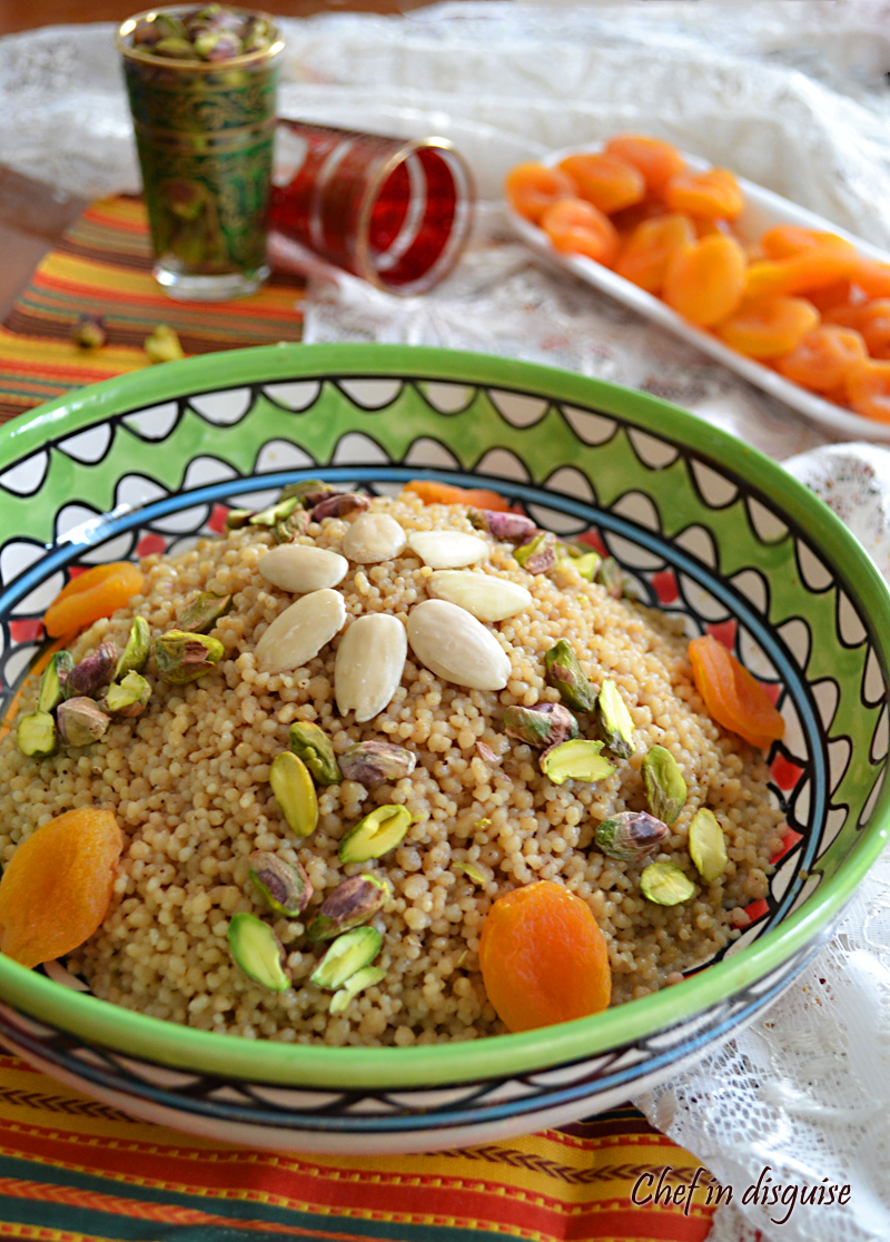 Couscous dessert – Chef in disguise