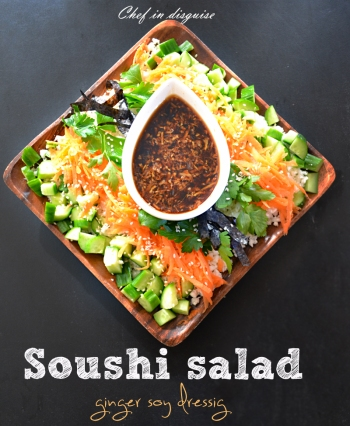 sushi salad with ginger dressing 2