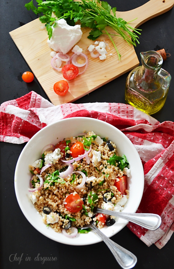 Couscous salad with Mediterranean flavors