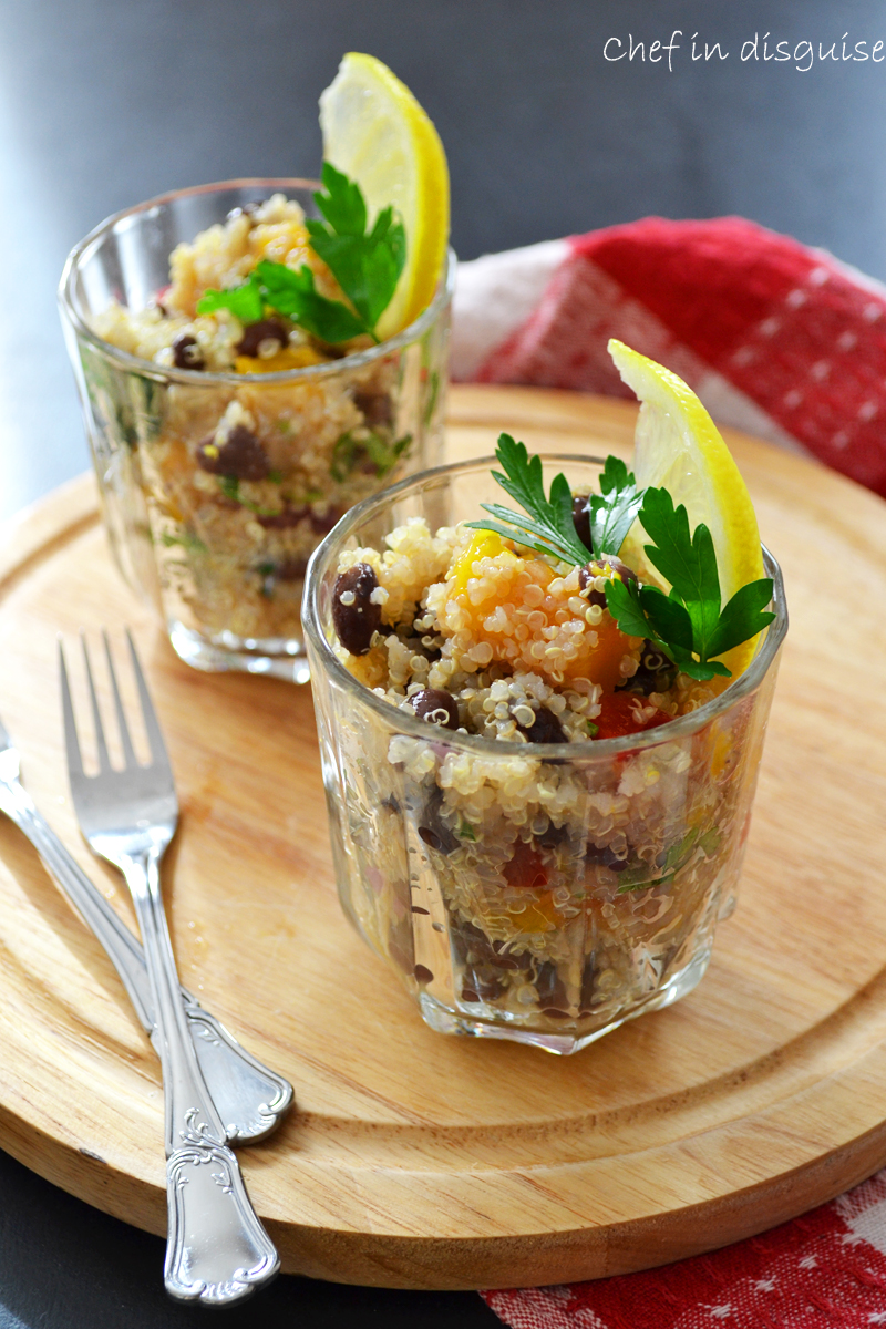 quinoa salad with mango and black beans