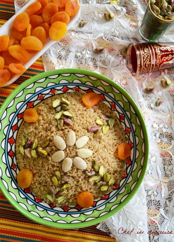 Moroccan Couscous dessert