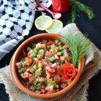 """Gazan dagga """"hot tomato dill salsa"""" #Arabicflavor"""
