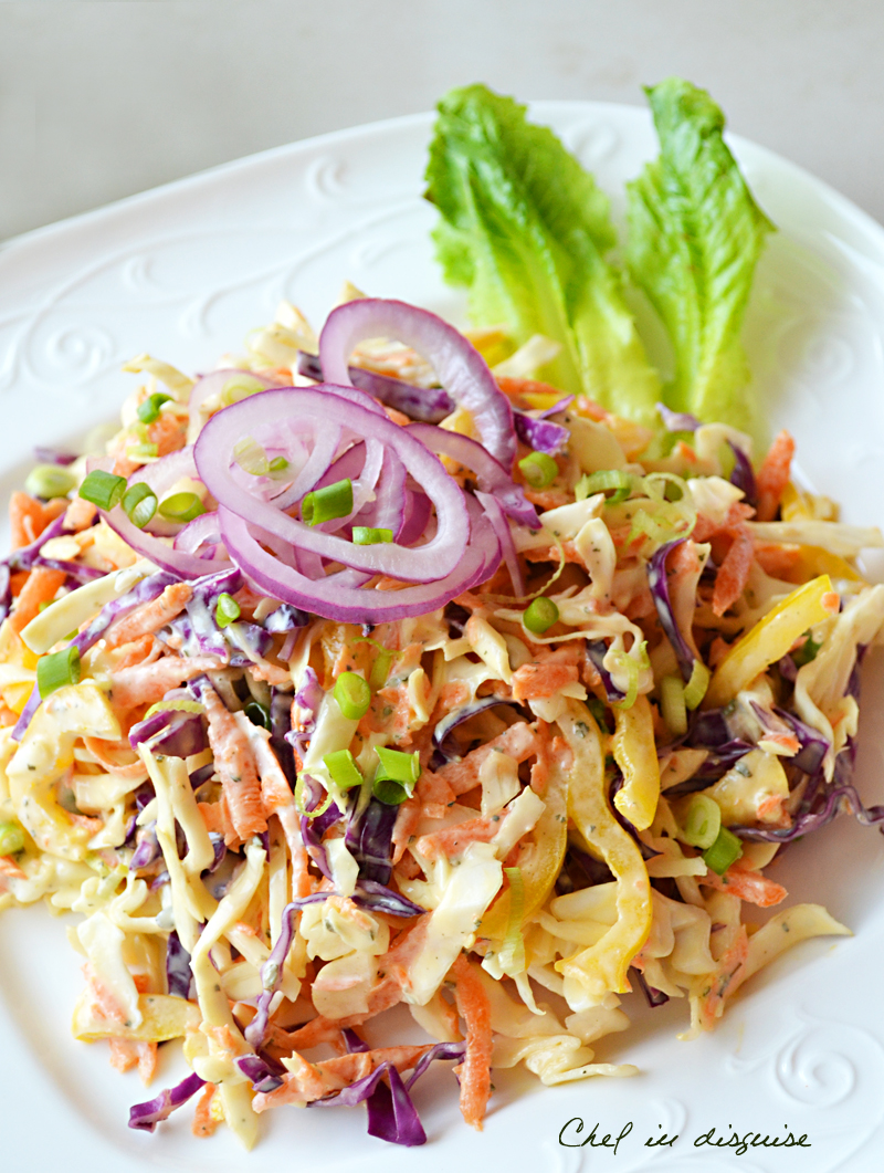 Coleslaw with ranch dressing