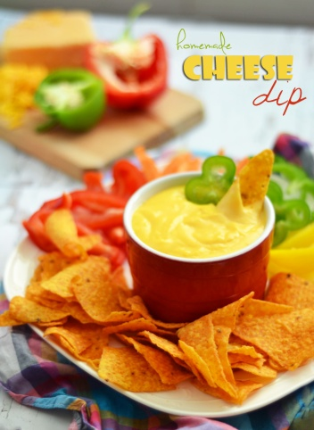 Nacho cheese dip, super easy to make and so tasty