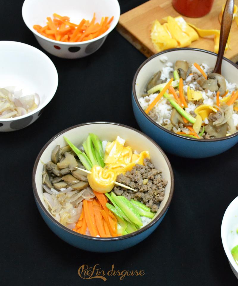Bibimbap rice