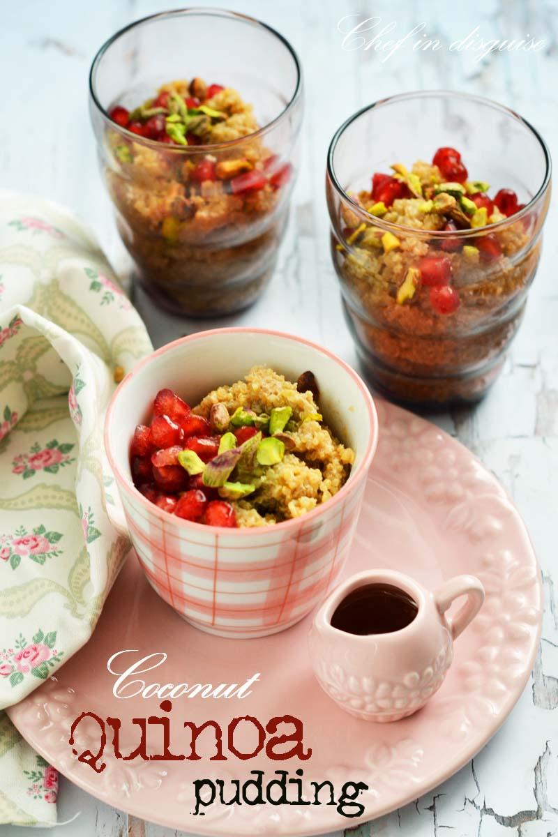 Coconut quinoa pudding title