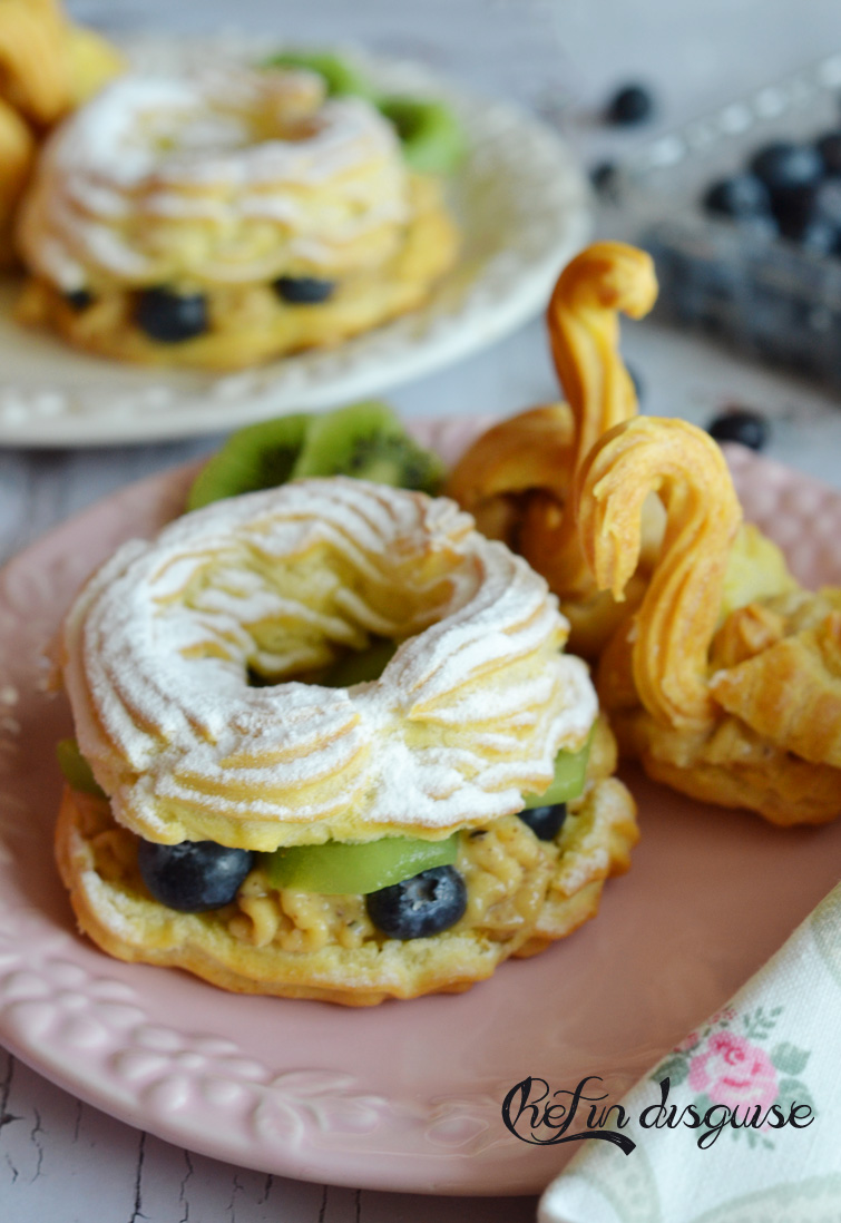 Paris brest with pate  a choux swans