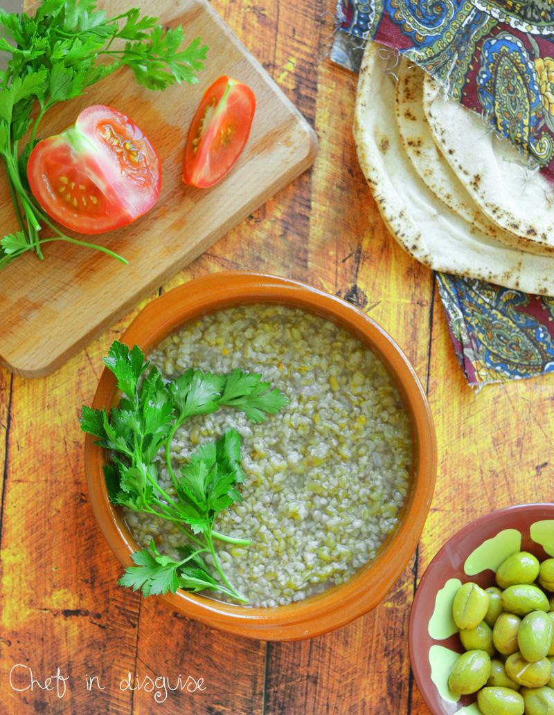 Middle Eastern freekeh soup