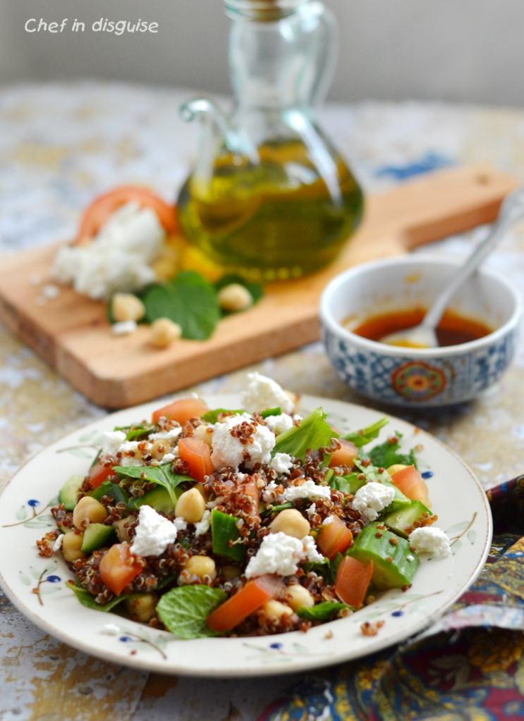 Quinoa  and spinach salad with smoked paprika vinaigrette