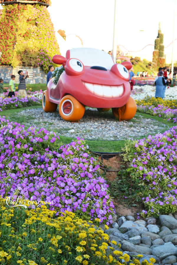 cars at dubai miracle garden