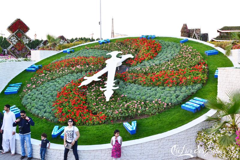 Dubai miracle garden clock