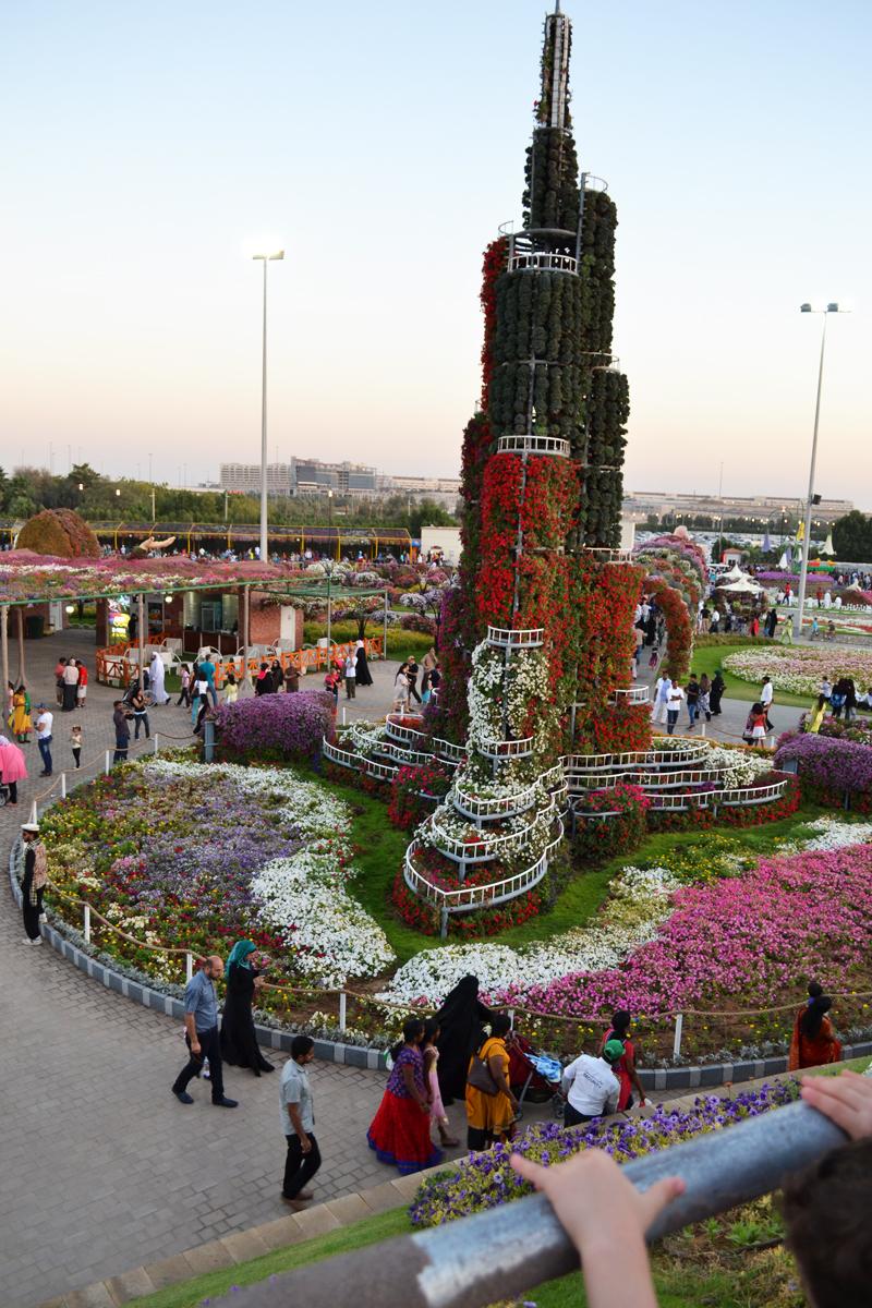 flower Burj khalifa