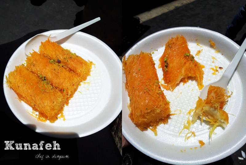 Kunafeh,street food in Palestine