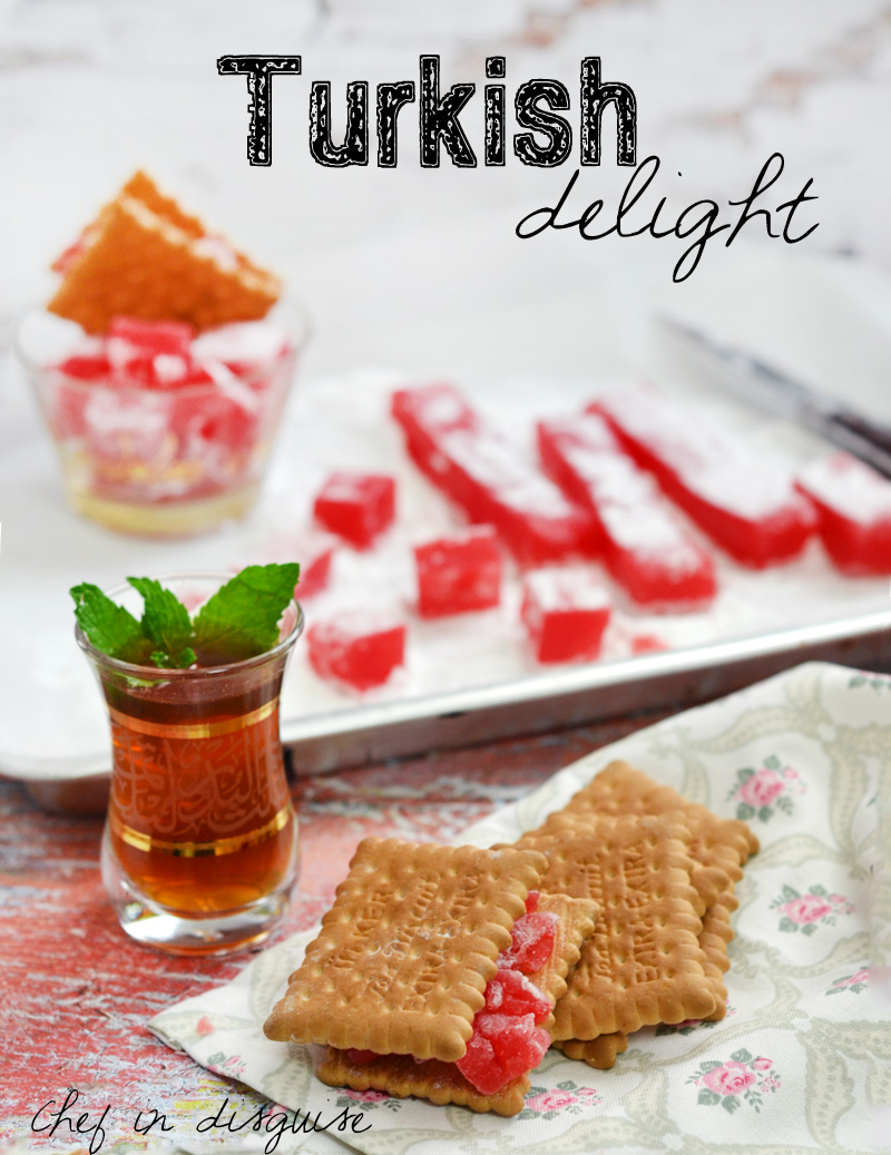 Strawberry turkish delight