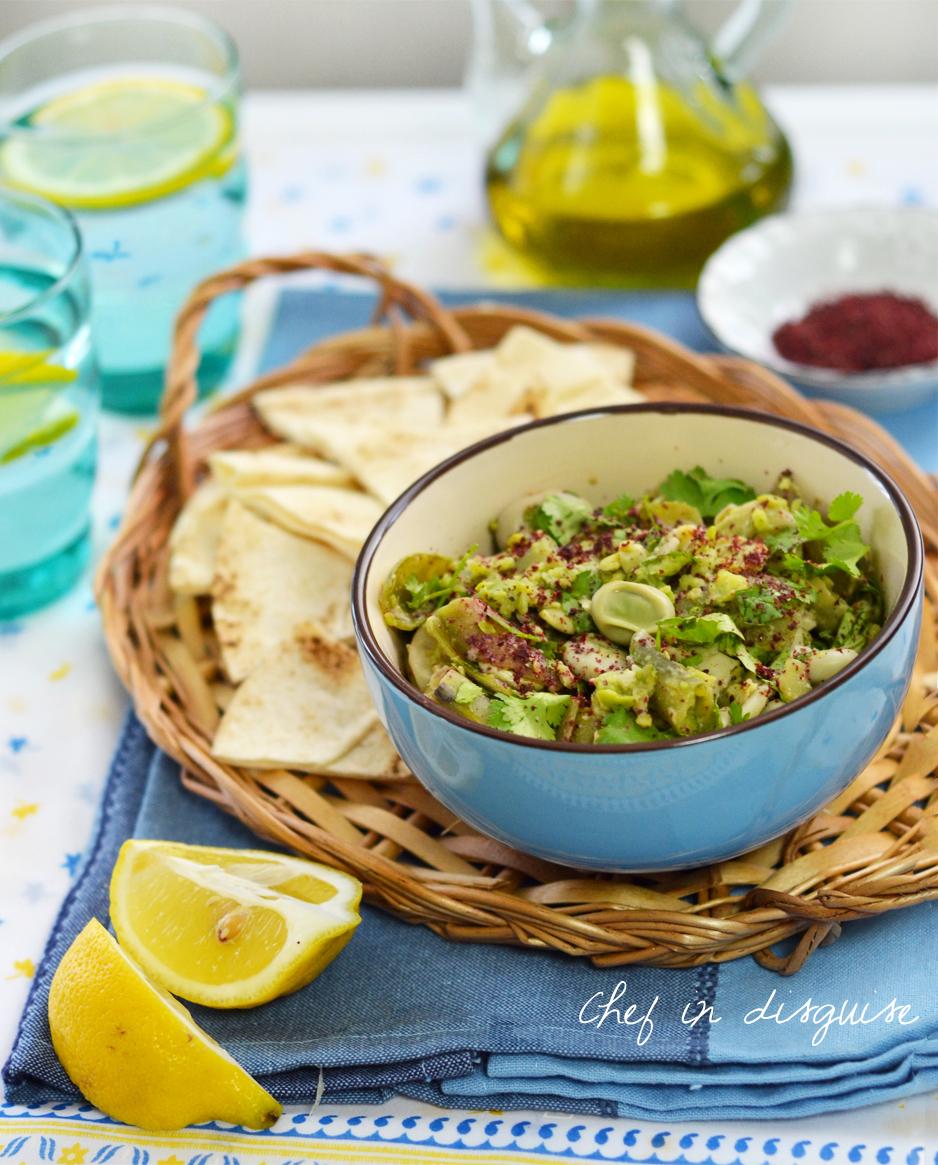Green bean dip with sumac