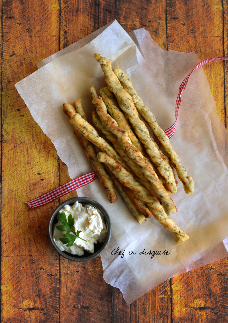 Cheese and herb sticks by chef in disguise