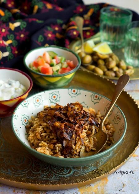 Mujadara lentil rice
