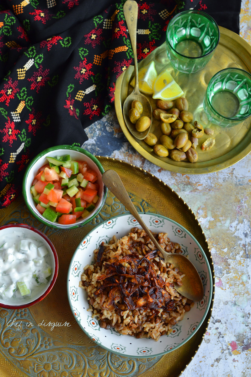 Mujadara (lentil rice)