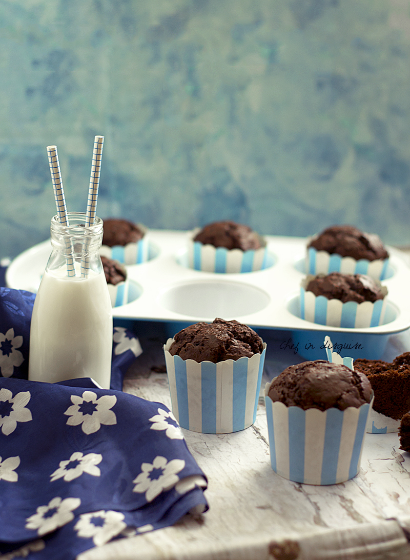 Copycat Tim Horton double chocolate muffins