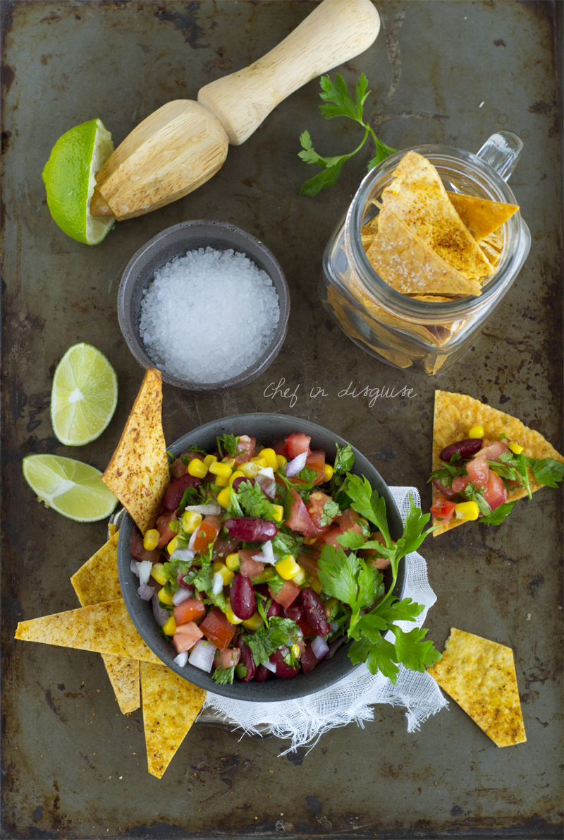 Corn and redbean salsa
