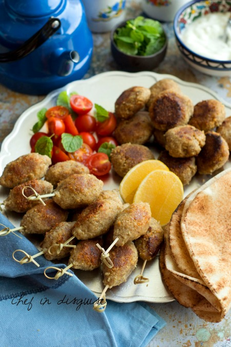 Kfarat kebab with skewers