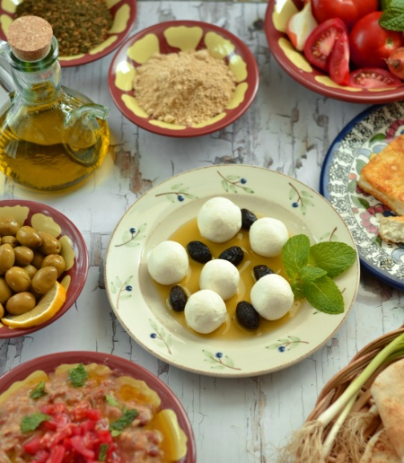 Labneh middle eastern breakfast