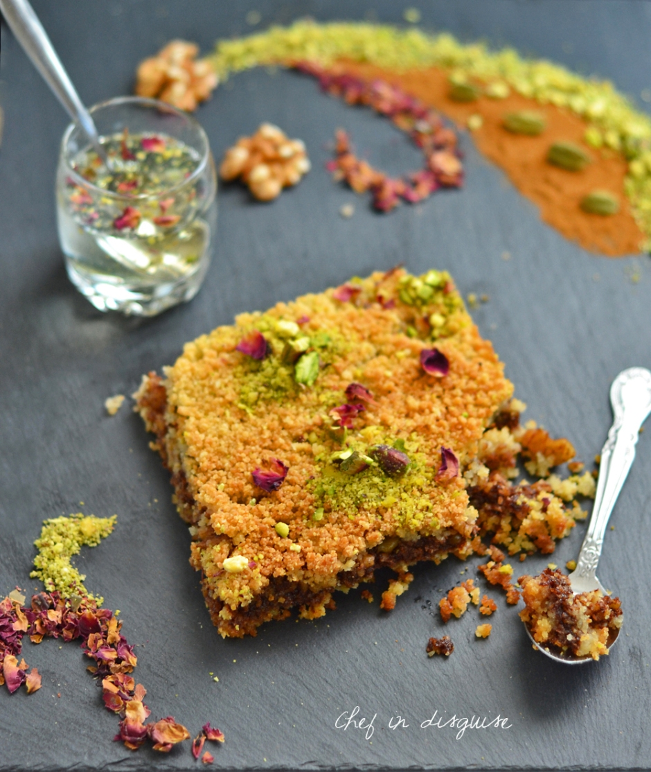 Knafeh with walnut and cinnamon filling.jpg