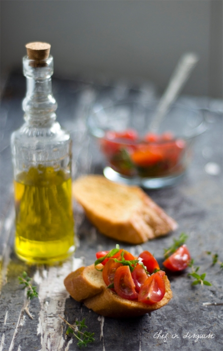 Tomato mint italian bruschetta