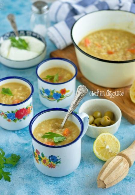 Lentil and bulgur vegetable soup