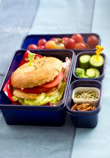 Halloumi bagel lunchbox