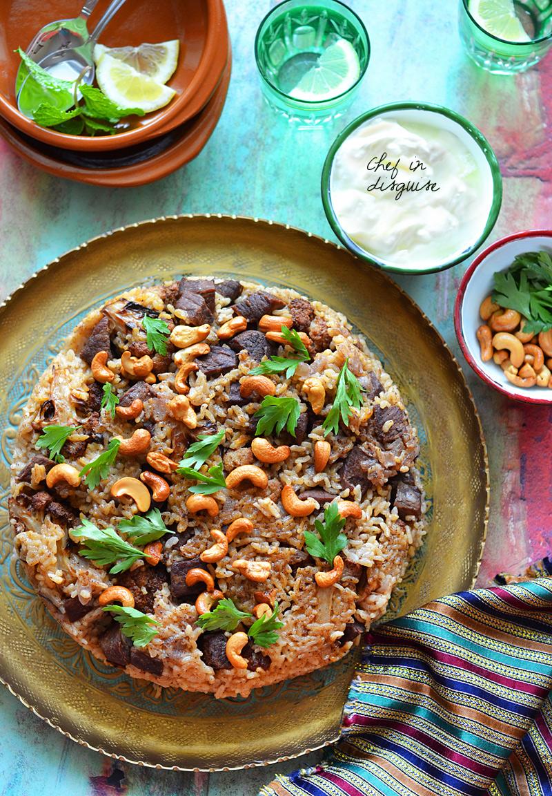 Palestinian cauliflower maqluba