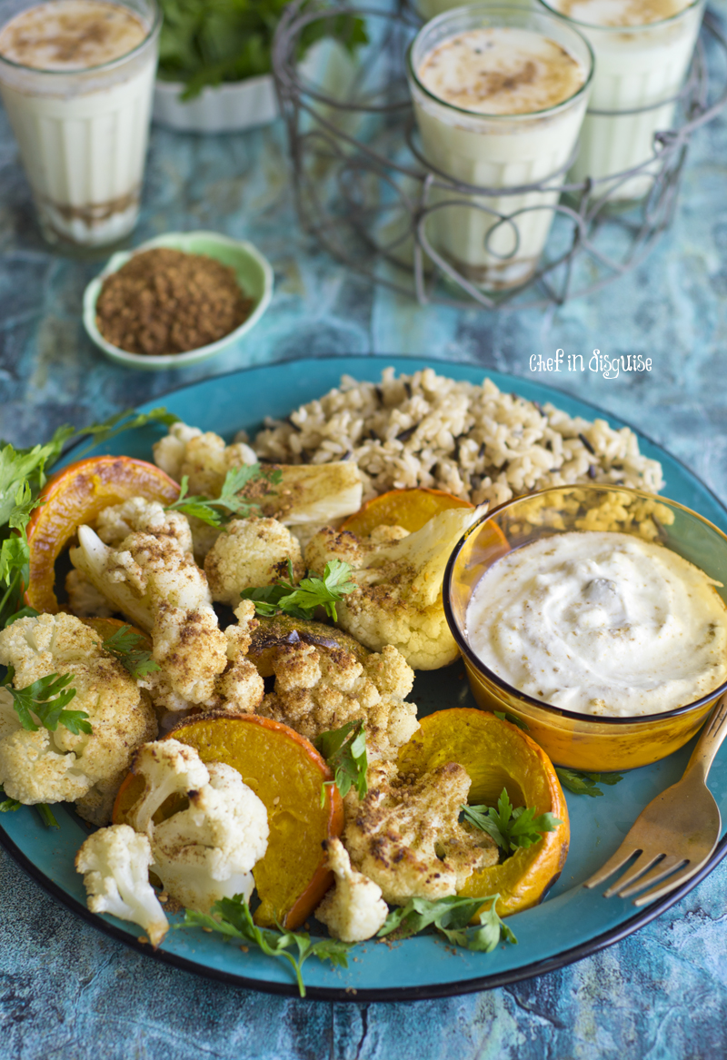 Roasted caulifower and pumpkin with spicy yogurt sauce.jpg