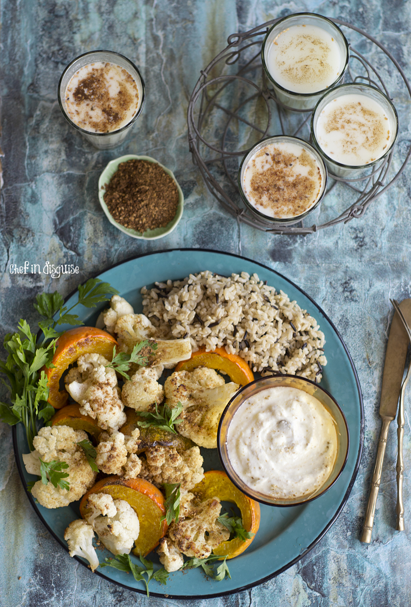 Roasted pumpkin and cauliflower with spicy yogurt dressing.jpg