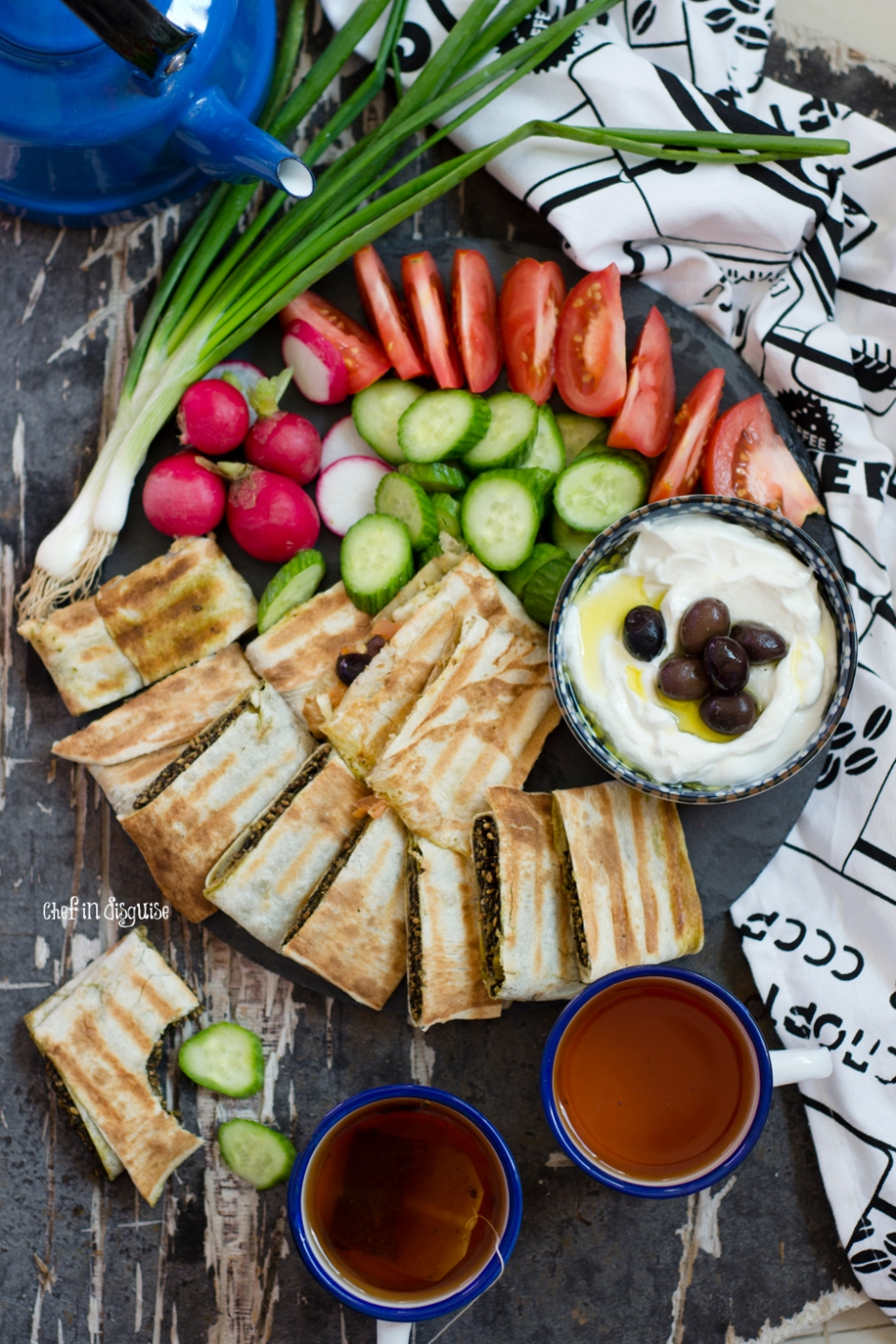 Breakfast platter with Zaatar toasted sandwiches.jpg