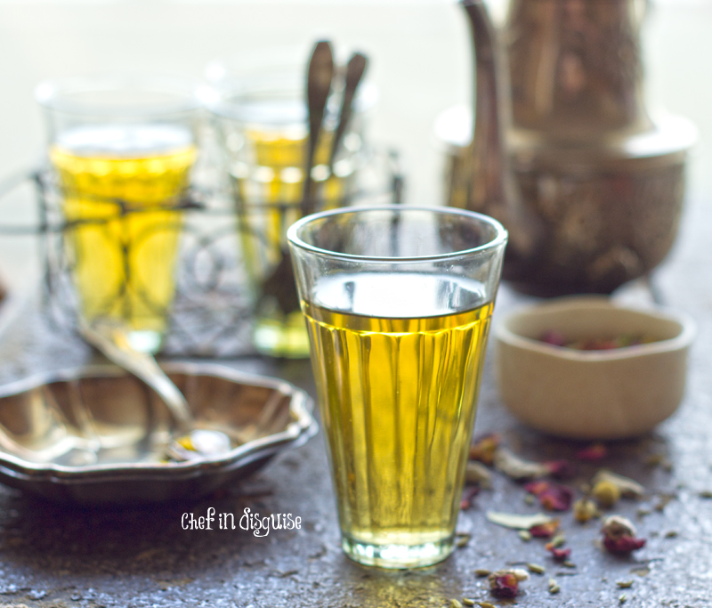 Zhorat, a blend of middle eastern herbs and flower tea