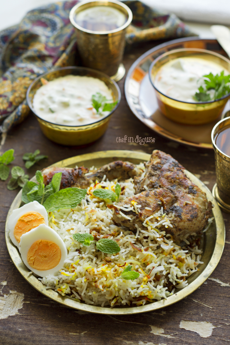 Hyderabadi chicken biryani recipe chef in disguise hyderabadi chicken biryani is one of the most popular indian rice recipes around the globe when it was announced that it was going to be our january mfbc forumfinder Image collections