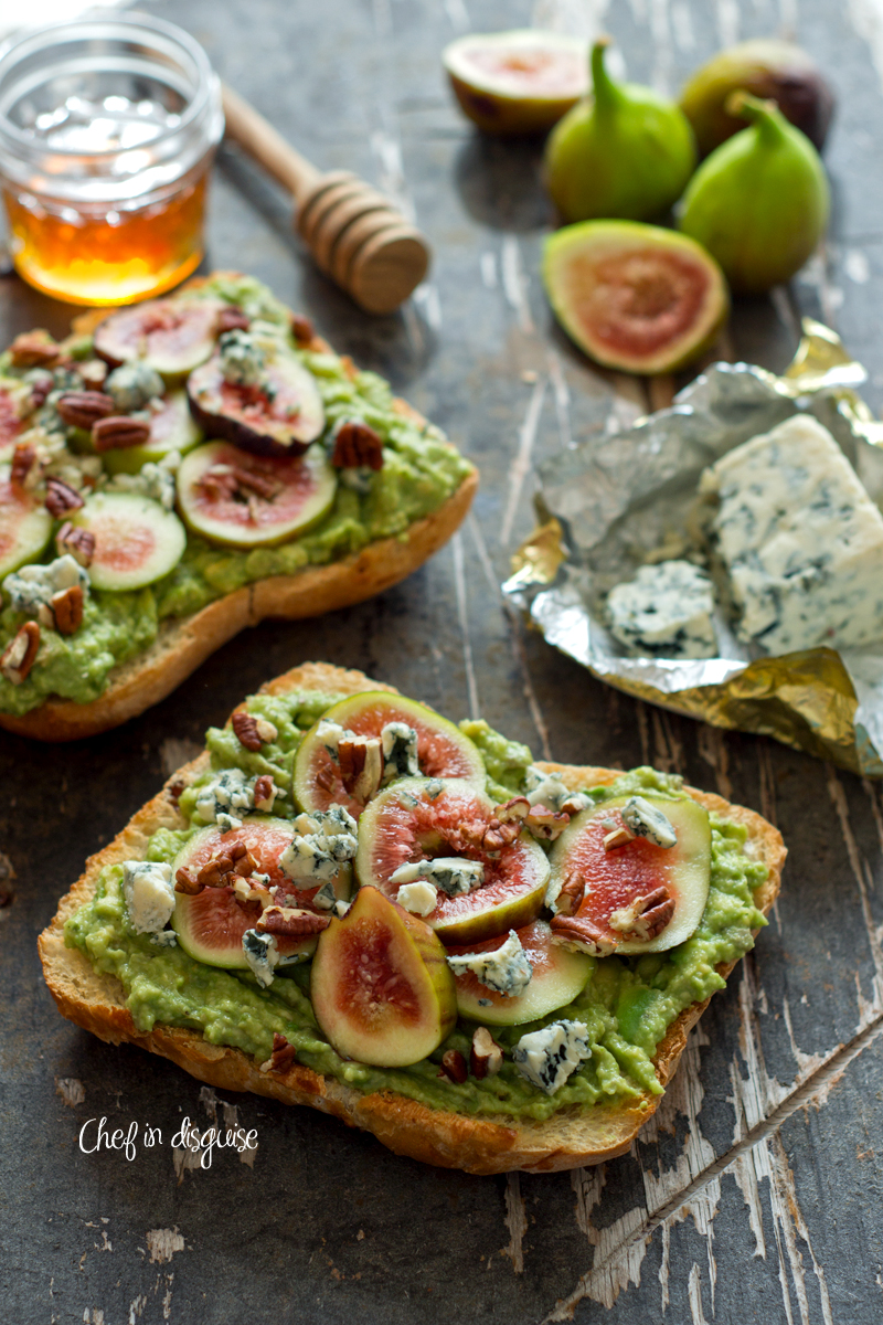 Fig blue cheese epic avocado toast