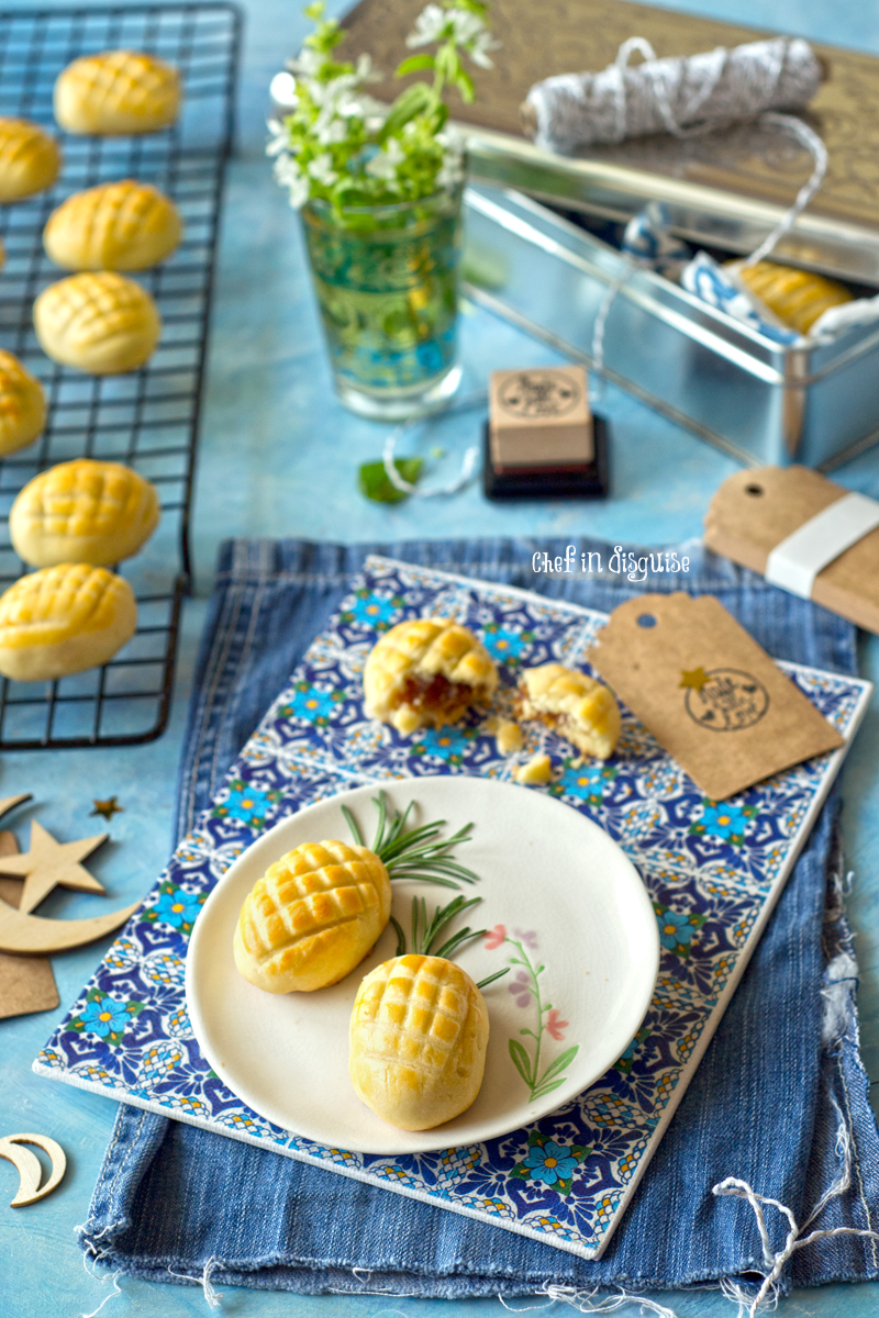 Nastar cookies, melt in your mouth crust with a fresh and sweet pineapple filling