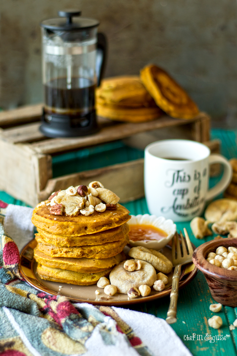 Fluffy pumpkin pancakes chef in disguise my son loves pancakes if it was up to him he would have them every single day as a result i have quite a few pancake recipes in my repertoire ccuart Choice Image